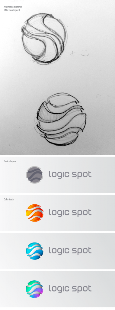 LogicSpot early logo ideas