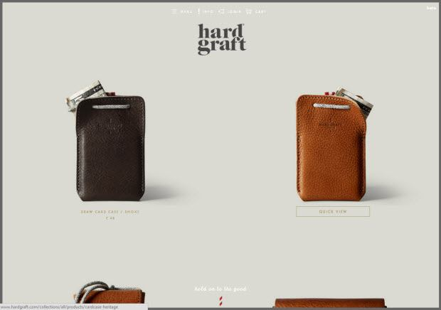 Best ecommerce design - Hard Graft