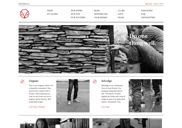 Best web design - Hiut Denim
