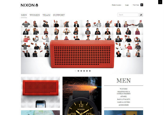 Best ecommerce design - Nixon