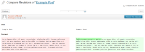Wordpress 3.6 Compare revisions