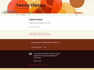 Wordpress 3.6 Twenty Thirteen Theme
