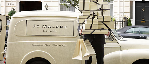 Jo Malone's Morris Minor doing the rounds...