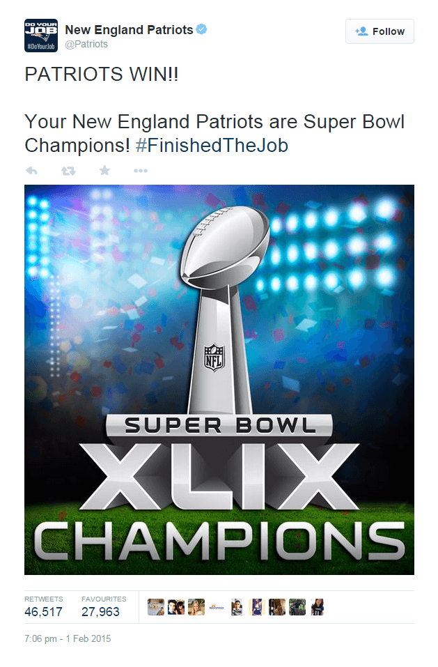 Patriots Super-Bowl tweet
