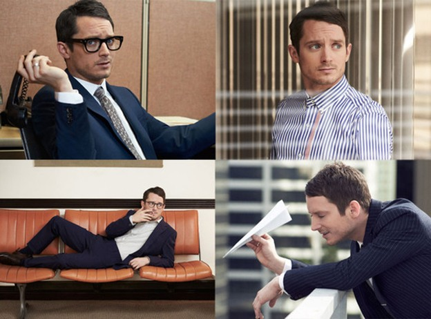 Elijah Wood looking too cool for school for Mr. Porter