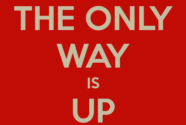 The only way is up poster