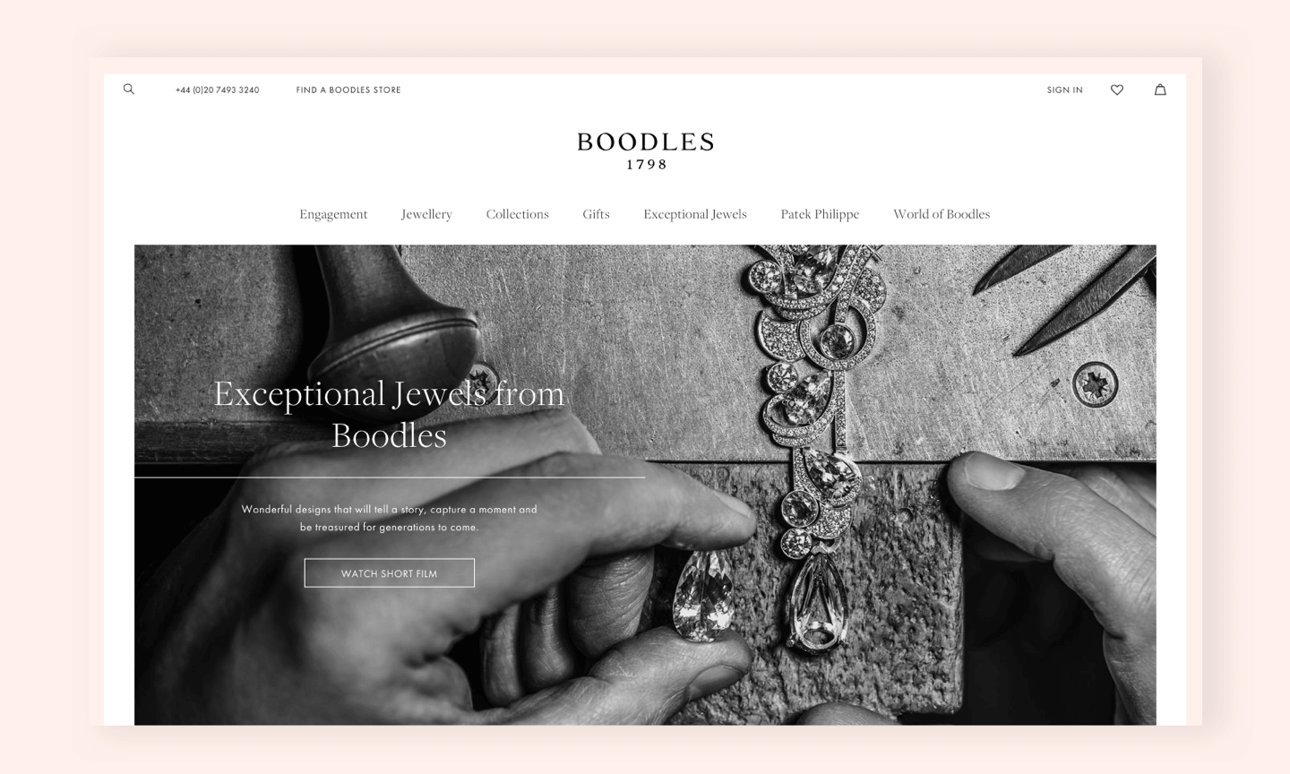 Boodles Exceptional Jewellery screen