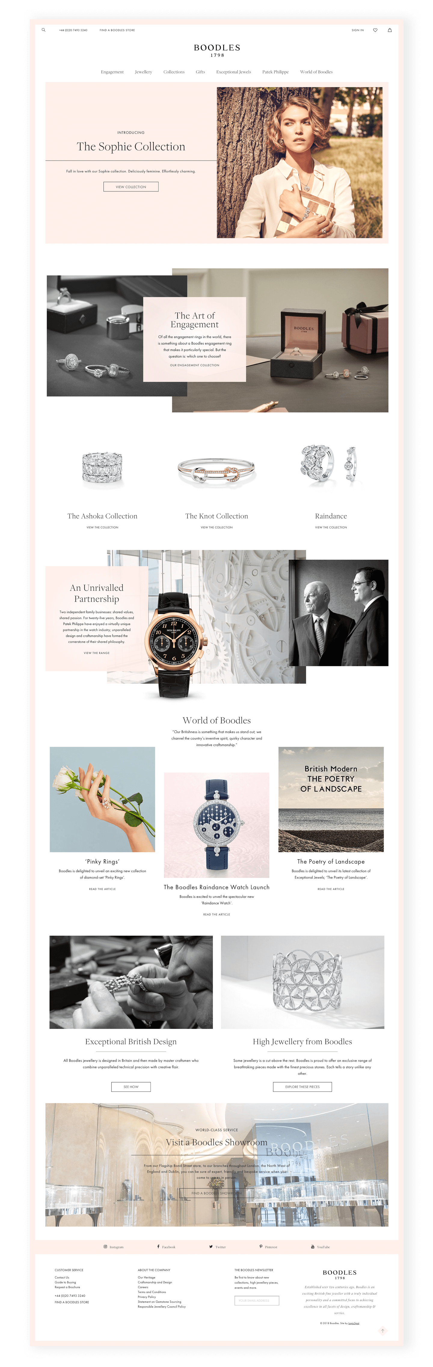 Boodles homepage screen