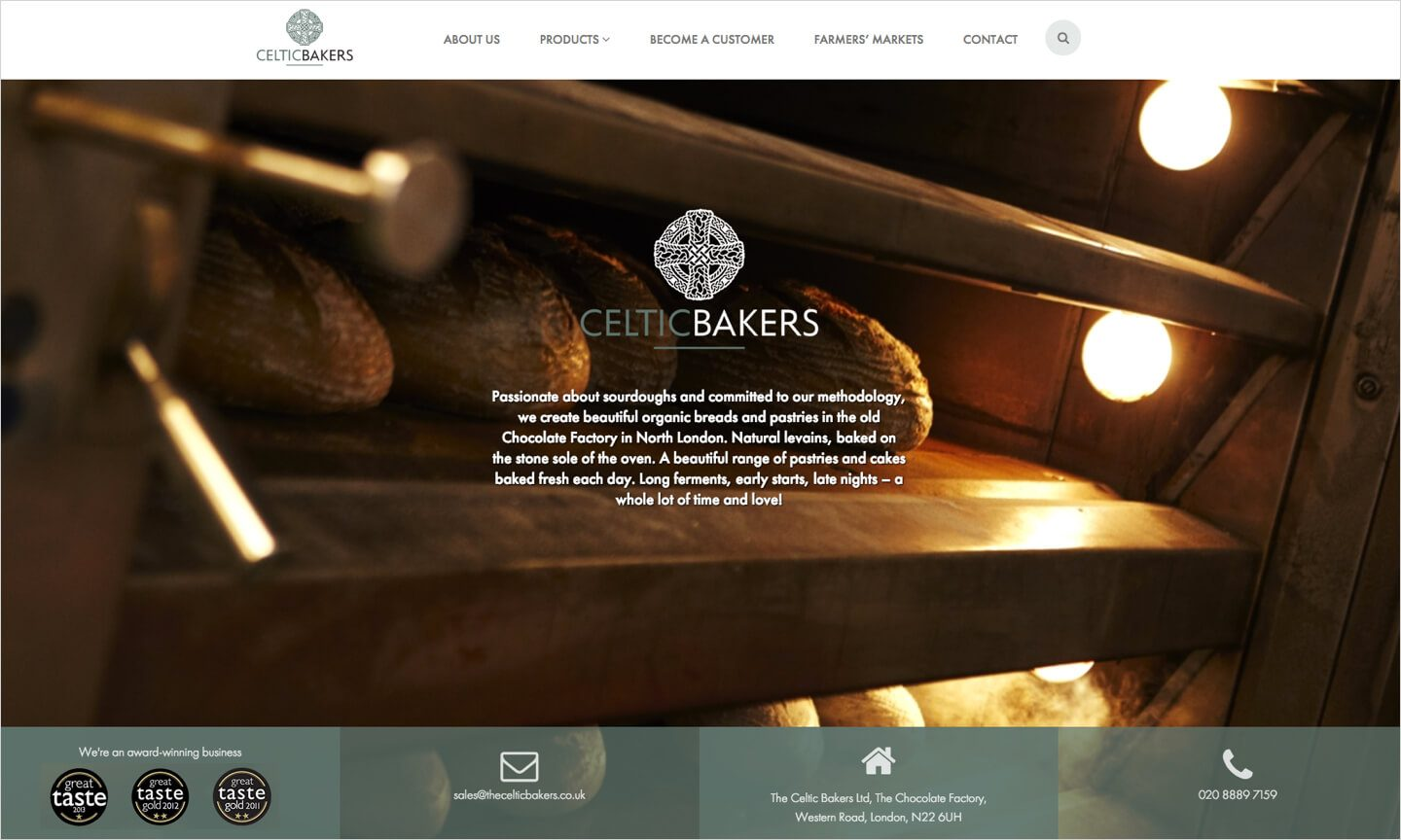 Celtic Bakers homepage