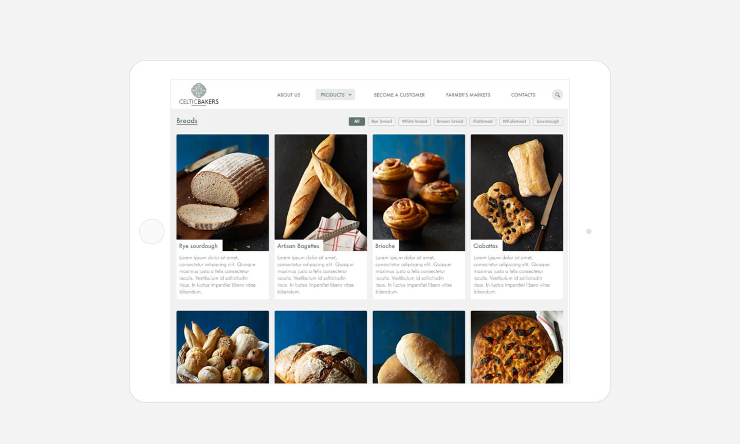 Celtic Bakers products
