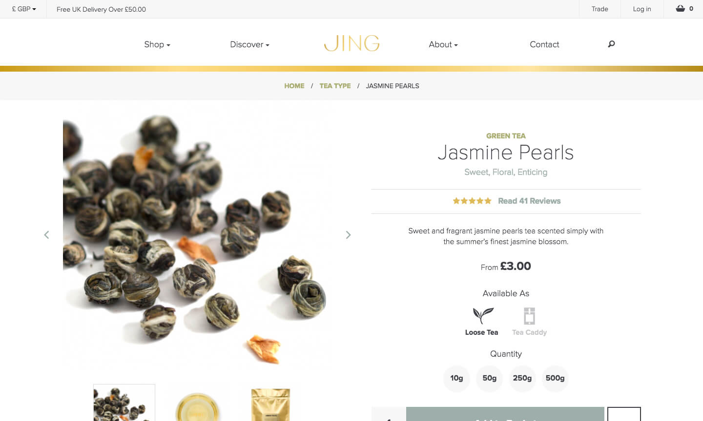 JING Tea product