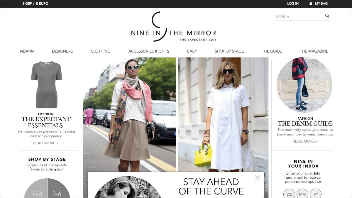 Nine In The Mirror homepage