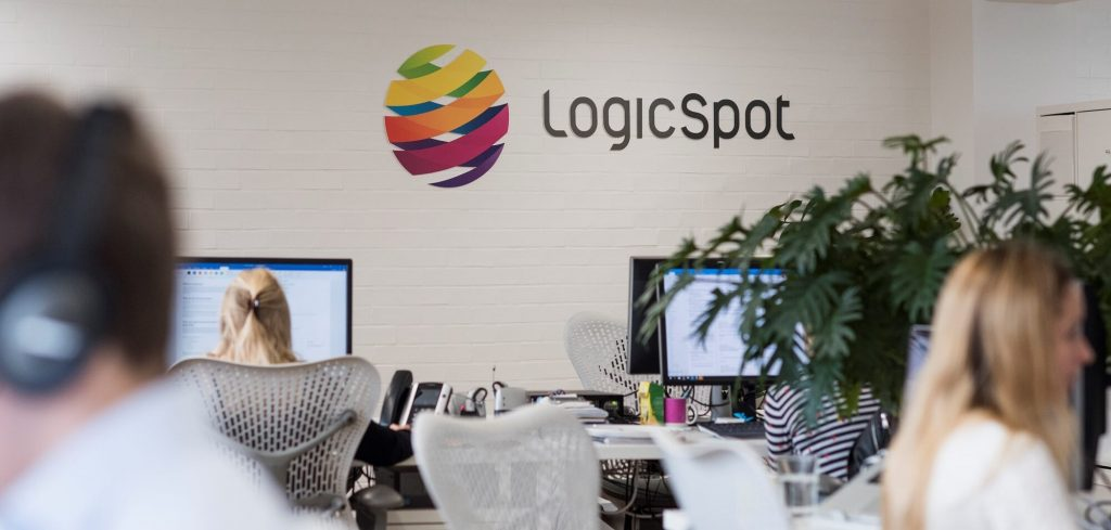 LogicSpot logo in Richmond office
